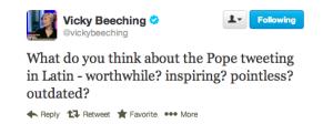 @Vickybeeching's tweet